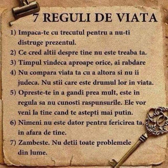 Reguli de viata ... pe scurt!